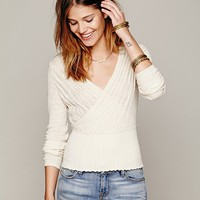 Free People Wrap Front Sweater