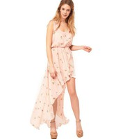 Bqueen Floral Chiffon Dress BY108F - Designer Shoes|Bqueenshoes.com
