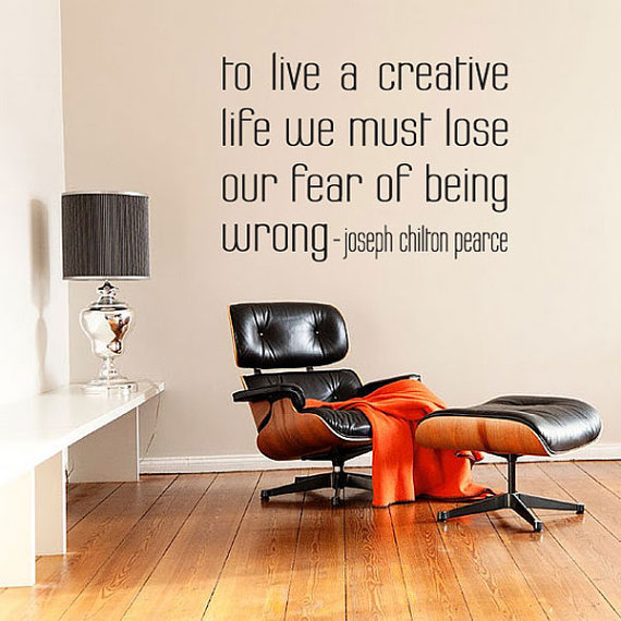 To Live A Creative Life Quote Vinyl Wall by WallumsWallDecals