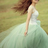 Modern Romantic Princess. Mint Green Mesh Full Skirt. Color Choice | GlamUp - Clothing on ArtFire
