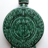 Vintage Mexican Aztec Sun God Calendar Decanter by EncoreEmporium
