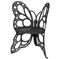 FlowerHouse Butterfly Cast Aluminum Chair FHBC205 - Black|Meijer.com