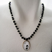 Black Cat Charm Black Onyx Necklace