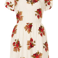 Autumn Floral Tea Dress - Dresses - Clothing - Topshop USA