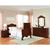 Jaqueline 4 Pcs Bedroom Set (Bed, Nightstand, Dresser and Mirror) - Standard Furniture | Kids Bedroom Sets