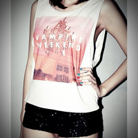 Vampire Weekend Rocker Shirt Women Girl Side by iBelieveiCanRock