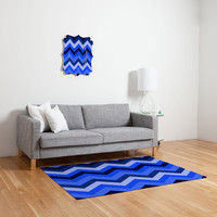DENY Designs Home Accessories | Romi Vega Chevron Blue Woven Rug