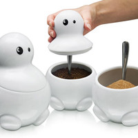 Kitchen storage jars with character | Tom, Dick & Harry™ the Tea sugar coffee set