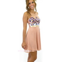 Blushwind Diamond Pink Sequin Embroidered Dress