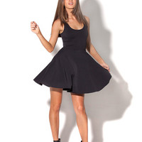 New Matte Black Reversible Skater Dress | Black Milk Clothing