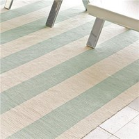 Wide Stripe Flat Weave Rug: 3 Colors - Shades of Light