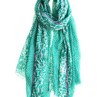 Stripe Flower Scarf :: VIEW ALL :: SCARVES :: ACCESSORIES :: Calypso St. Barth
