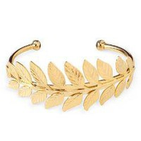 FERN LEAF CUFF | Ferns, Leaves, Bangles, Bracelets, Cuff, Jewelry, Gold | UncommonGoods