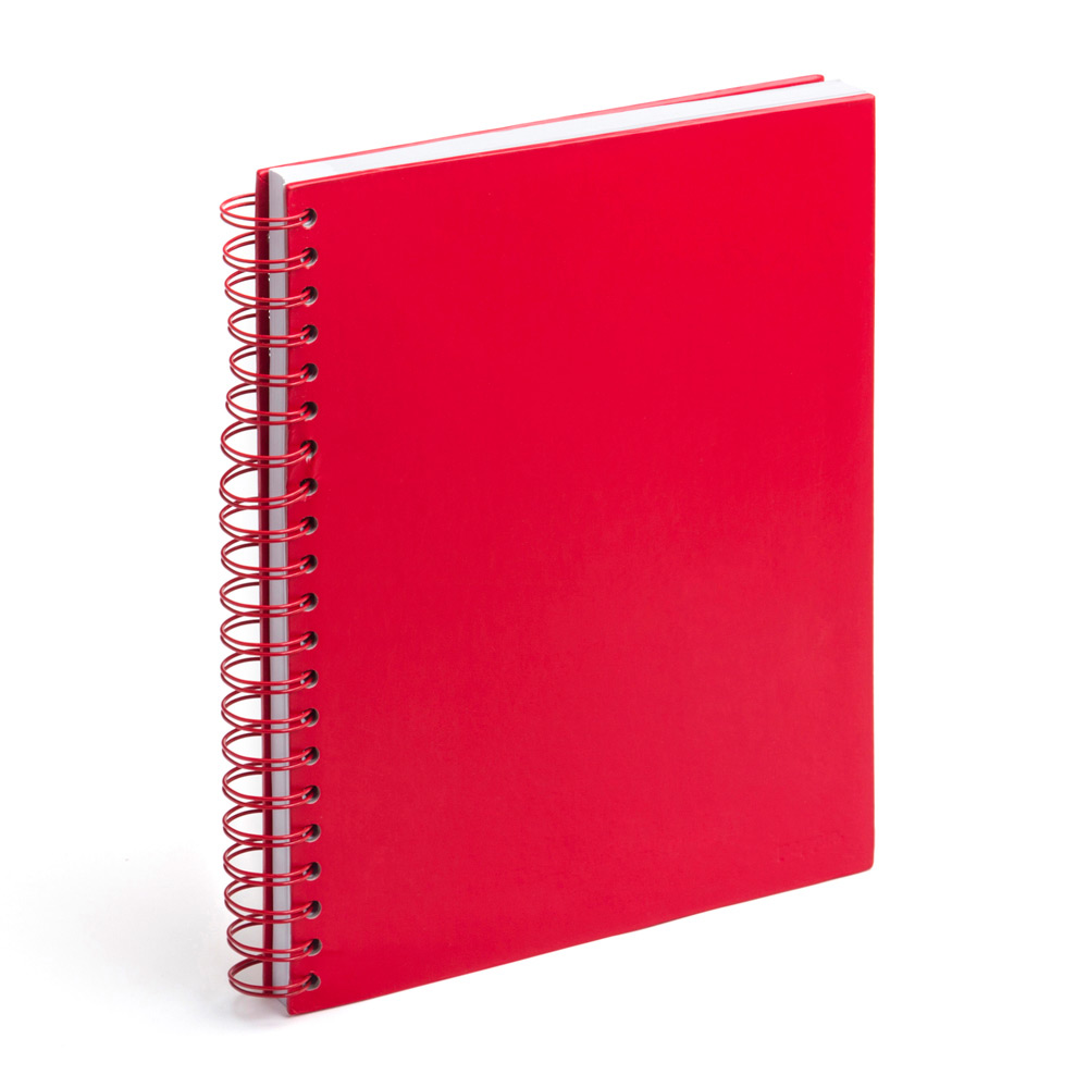 Red Large Spiral Notebook From Poppin