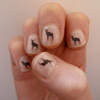 deer nail transfers by katebroughton on Etsy