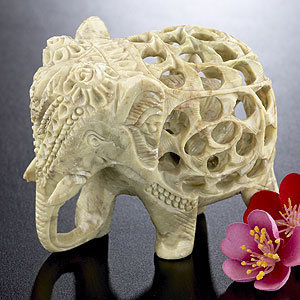 Soapstone elephant decorative from cost plus world market Elephant home decor items