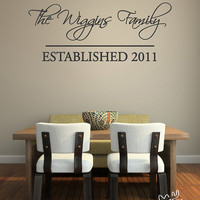 Family Name Wall Decal Home Art Last Name by LittleMooseDecals