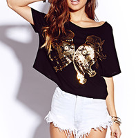Mirrored Metallic Elephant Top | FOREVER 21 - 2000074297