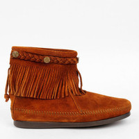 Minnetonka Hi Top Back Zip Boots in Brown