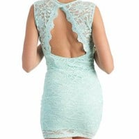 lace dress &amp;#36;34.00 in OFFWHITE PEACH PISTACHIO - Lace | GoJane.com
