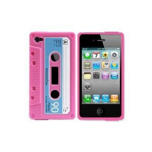 Amazon.com: InSassy Pink/Blue Cassette Tape Case / Skin / Cover for Apple iPhone 4 /4G (AT and T and Verizon): Cell Phones &amp; Accessories