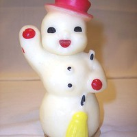 Vintage Gurley Snowman 1940s Novelty Christmas Candle | SandyCreekCollectables - Seasonal on ArtFire