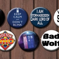 Doctor Who Button Set - Choose 6