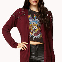 Studded Shoulder Cardigan