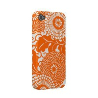 Vintage Abstract Floral Pattern Iphone 4 Case-mate Cases by Clareville Designs