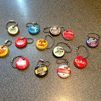 Bottlecap Keychains for charity. Supports Riley Hospital for Children