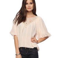Crochet Bib Peasant Top | FOREVER21 - 2000035637