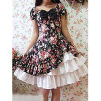 Cotton Cabbage Patch Short Sleeves Cotton Classic Lolita Dress