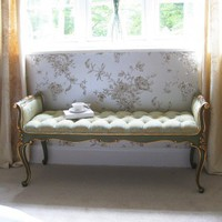 Versailles Damask Foot End|Big Stools|Seating|French Bedroom Company