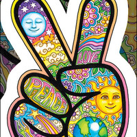 Dan Morris Peace Hand Sticker