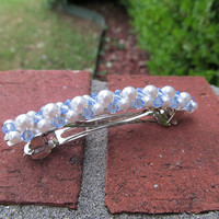 white pearls light blue crystals barrette3 | Flickr - Photo Sharing!