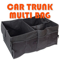 Car Trunk Cargo Organizer Collapsible Bag Storage Black Folding in the car trunk
