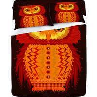 DENY Designs Home Accessories | Chobopop Geometric Owl Sheet Set