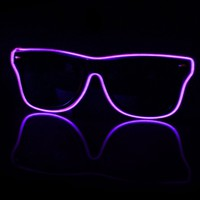 EDM Light Up Black and Purple Sunglasses