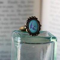 fantasy blue skies indie brass ring