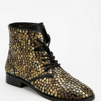 Deena & Ozzy Embellished Lace-Up Ankle Boot