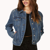 Cool Shredded Cross Denim Jacket