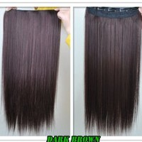 "8 Color 23"" Straight Full Head Clip in Hair Extensions Wwii101"