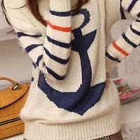Cute Anchor Sweater for Women THB543