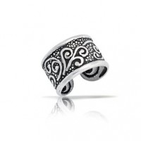 Bling Jewelry Oxidized Celtic Tribal Ear Cuff One Piece 925 Sterling Silver:Amazon:Jewelry