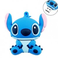 niceEshop(TM) 8GB Cute Cartoon Stitch Shaped USB Flash Drive / Memory Stick -Blue:Amazon:Computers & Accessories