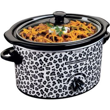 3-Quart Slow Cooker with Cheetah Pattern Design:Amazon:Kitchen & Dining