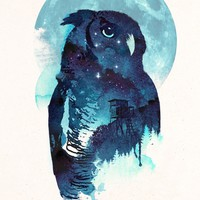 """Night Owl"" - Art Print by Robert Farkas"