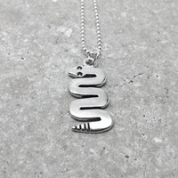 Snake Necklace, Sterling Silver
