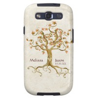 Swirl Tree Roots Antiqued Personalized Names Heart Samsung Galaxy SIII Case