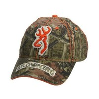 Browning Men's Realtree Camouflage With Orange Buckmark Cap